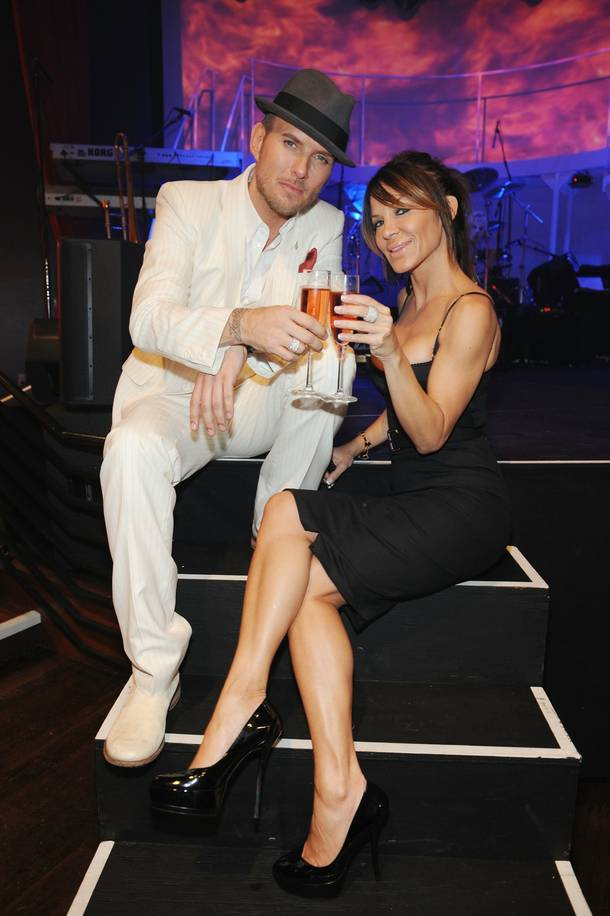 Matt Goss and Robin Antin.