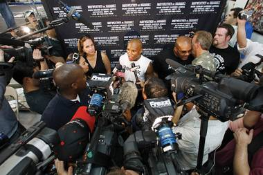 Game face: Amid controversy, Floyd Mayweather Jr. says he is ready for fight night.