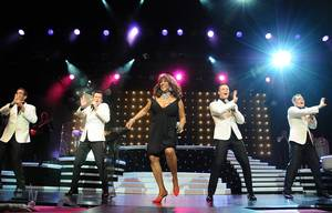 Mary Wilson, of The Supremes, performs with Human Nature at the Imperial Palace.
