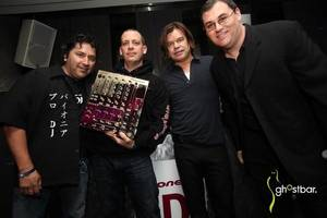 From left to right: Pioneer's Karl Detken, Z-Trip, Paul Oakenfold and <em>DJ Times</em> Editor-in-Chief Jim Tremayne.