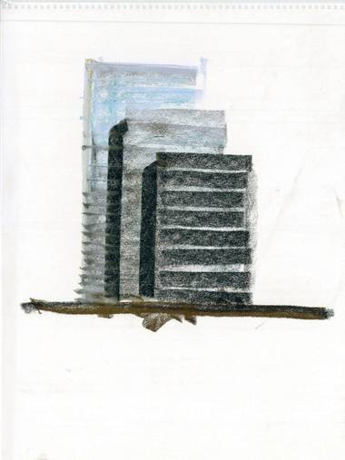 Sketch of Vdara at CityCenter.