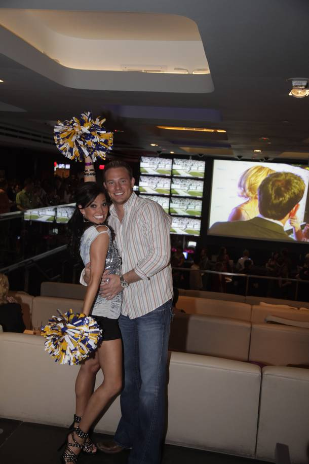 Melissa Rycroft posed with pom poms at the grand opening of Emeril Lagasse's new sports book and restaurant, Lagasse's Stadium, at the Palazzo on September 24, 2009.