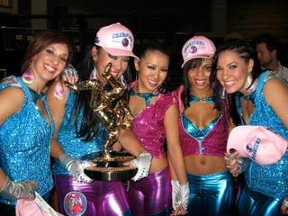 ABDC Season Four Winners We Are Heroes Celebrate With Their Trophy On The Set Of