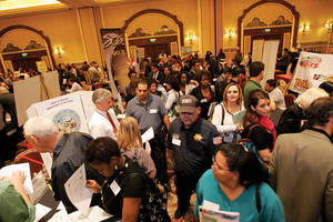 A career fair at Green Valley Ranch earlier this year.