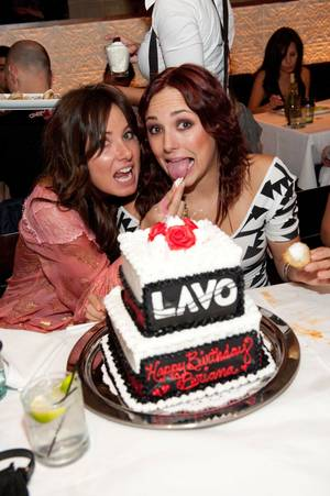Briana Evigan, right, celebrates her 23rd birthday at Lavo.
