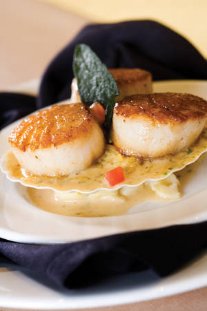 Scallops at The Carmel Room