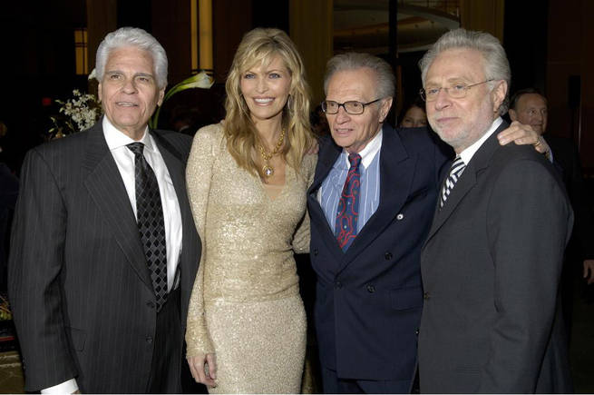 Karl Engemann, Shawn Southwick King, Larry King and Wolf Blitzer.