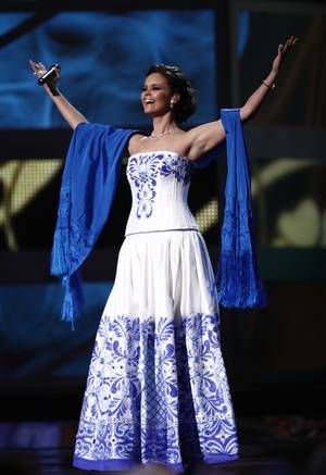 Shaila Durcal takes the stage at the 10th Annual Latin Grammy Awards at Mandalay Bay.