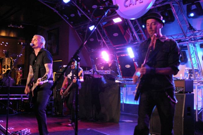 Everclear performed live at the Hard Rock Cafe on the Strip.