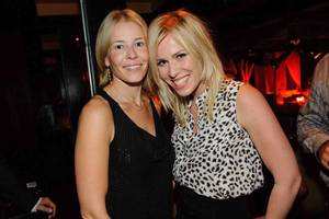 Chelsea Handler and Natasha Bedingfield at Tao in The Venetian.