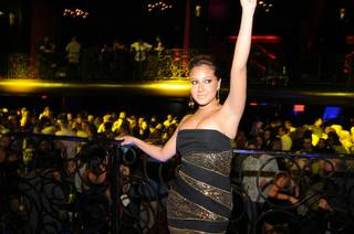Adrienne Bailon hosts at LAX in the Luxor on Nov. 20, 2009.