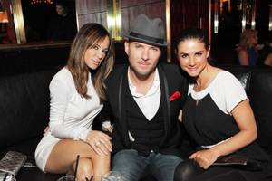 Robin Antin, Matt Goss and Alison Waite at The Playboy Club in the Palms.