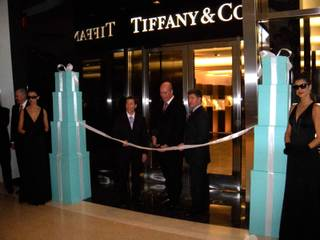 The Tiffany & Co. grand opening at Crystals in CityCenter on Dec. 3, 2009.