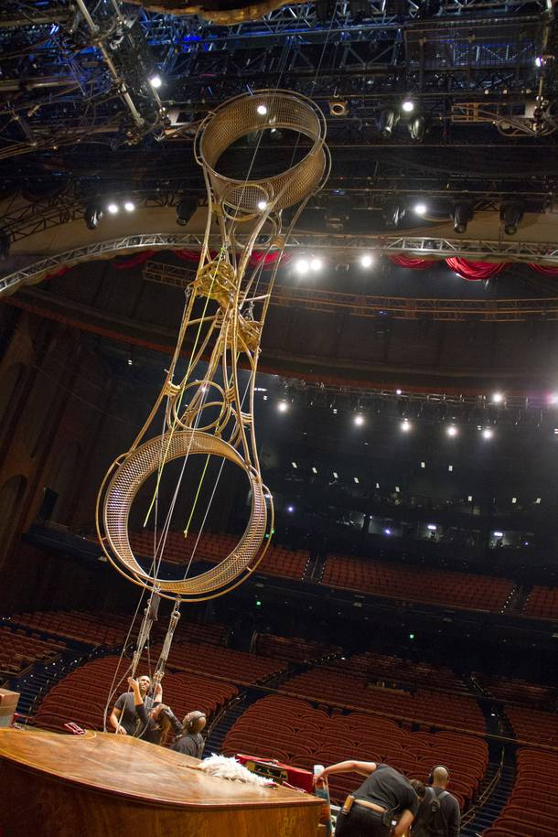 Behind the scenes of Zarkana in November 2012.