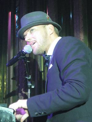 "Young blue eyes--Matt Goss debuts ""Lovely Las Vegas,"" the new theme song for Fox 5's MORE show."