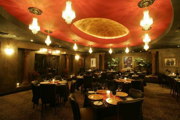 A view of the restaurant at the Artisan Hotel. The hotel's lounge has become a popular late-night hangout for entertainers and musicians who come to the bar after their shows.