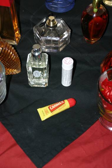 Carmex, Goldfish and stains of mysterious origin...
