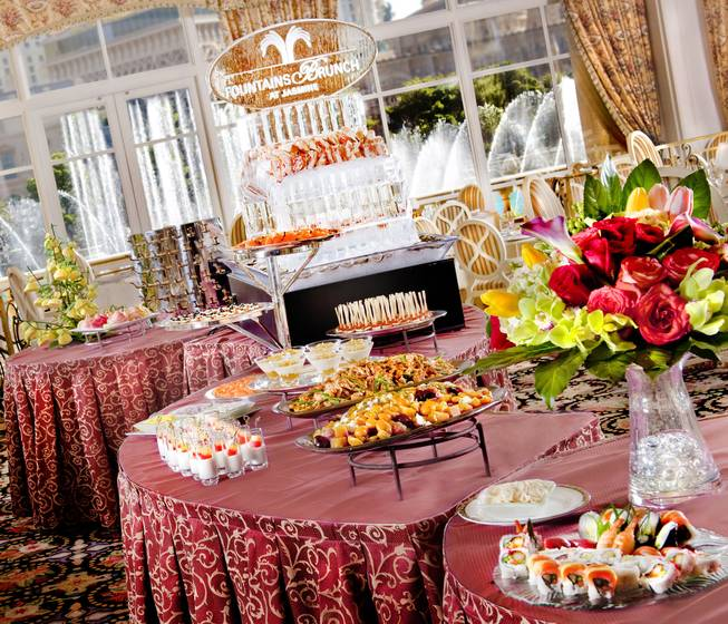 Even the Bellagio's stunning fountains may not be able to draw your attention from this sumptuous spread.