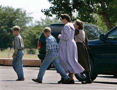 A polygamist family in Colorado City.