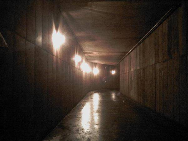 Like something out of the movie 300, a creepy tunnel leads to two mountainside party mansions in Park City.