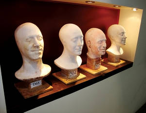"The wall of ""Creepy Heads"": Cirque du Soleil makes a bust of every performer in every show."