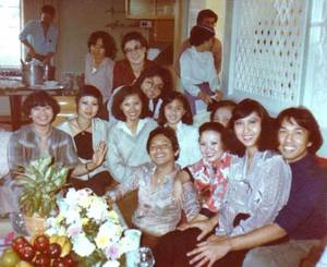 It's all smiles celebrating the opening of the first Royal Thai Cuisine in 1979.