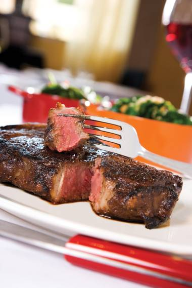 "In a town full of great steaks and steakhouses, Carnevino's inviting, mahogany-red hues and mineral-rich, deep-roasted flavors entitle it to be dubbed ""Sir Loin!"""