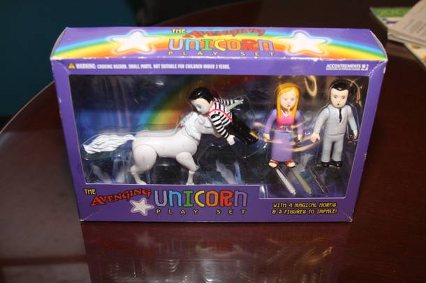 Behold the awesomeness that is the Avenging Unicorn.