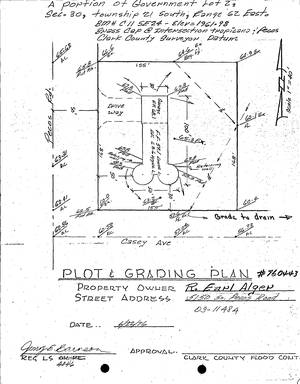 A purposed drawing of Earl Alger's home at 5150 S. Pecos Rd. from the original application for building permit.
