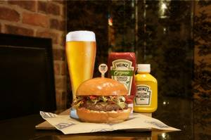 Burgers and beer: a perfect pair.