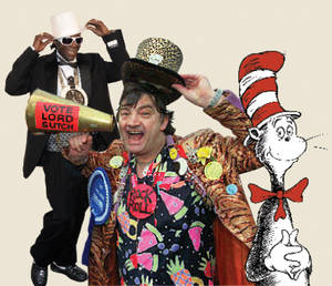 The maddest hatters: Flavor Flav, Screaming Lord Sutch, Seuss' Cat in the Hat
