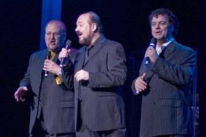 The Las Vegas Tenors, shown before Bill Fayne's surgery (from left): Bobby Black, Fayne and Teddy Davey.