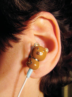 """Naughty Naughty"" Teddy Bear Earphones"