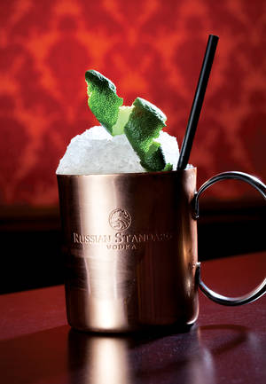 Herbs and Rye's rendition of the classic Moscow Mule made with vodka, lime juice and ginger beer.