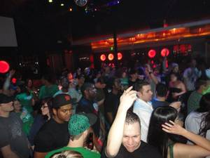 A packed house at Forbes during a dubstep party in March on St. Patrick's Day.