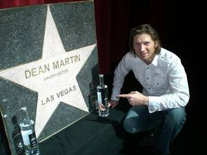 Star Vodka owner Charles Ferri with Dean Martin's star.