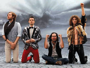 The current Killers lineup: (from left) Mark Stoermer, Brandon Flowers, Ronnie Vannucci and Dave Keuning.