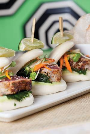 Charred tuna sliders from Society Cafe