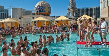 The 2010 Memorial Day weekend bikini bash at Pleasure Pool in Planet Hollywood.