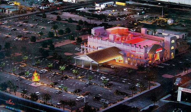 An aerial rendering of the new Hustler mega club.
