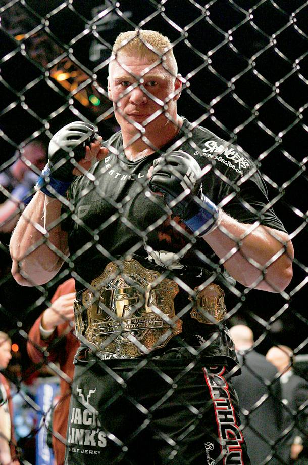 UFC fighter Brock Lesnar