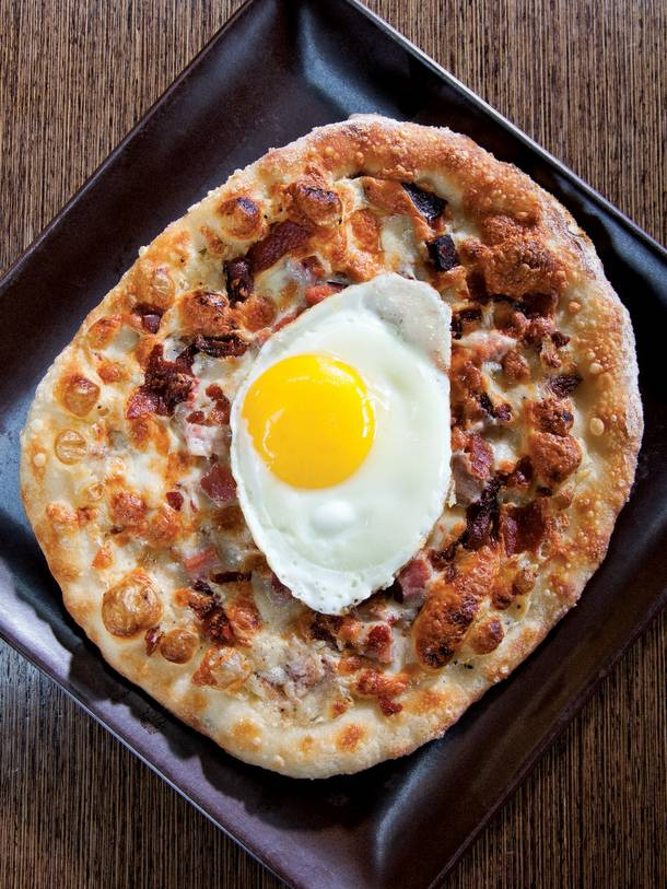 Simon's breakfast pizza