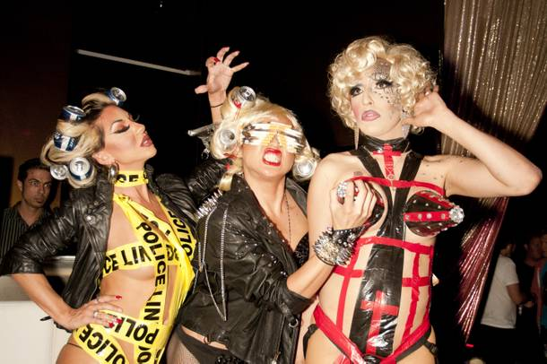 Pop stars: They make garbage look good. (Not pictured? The strapon Gaga on the far right was wearing).