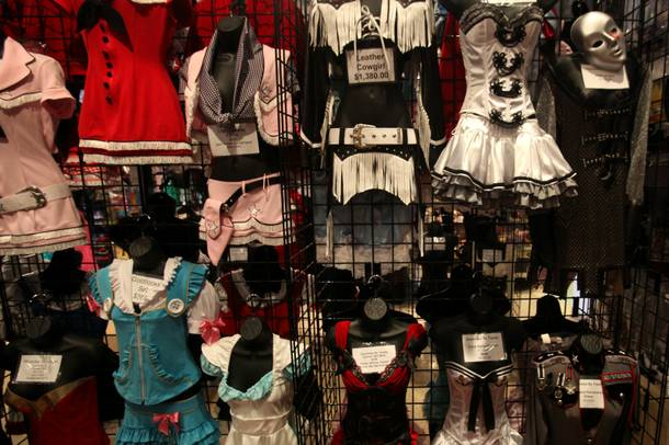 Less is more: These costumes, some by LA's Trashy Lingerie, fetch high prices for little fabric.