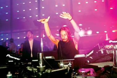 What a character: Bob Sinclar, aka Christophe Le Friant, spins at Haze.