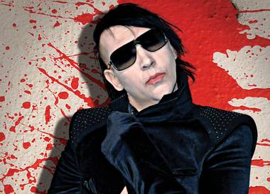 The man who needs no Halloween costume, Marilyn Manson, hosts at Haze October 30.
