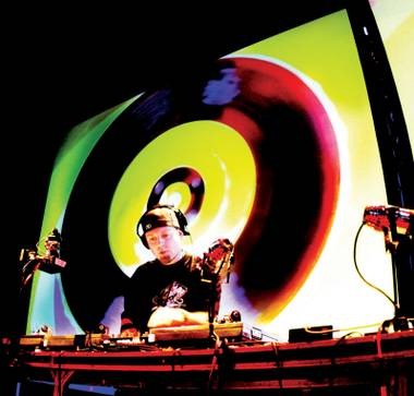 The trip-hop pioneer tells us why his eyes glow in DJ Hero game and more.