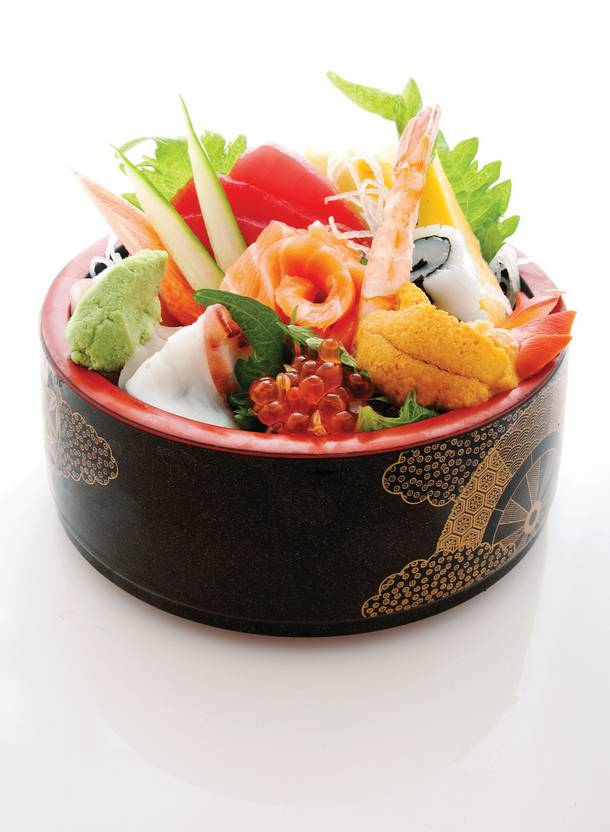 Gone Fishing: Shuseki's chirashi mixed sushi bowl is a seafood lover's dream.