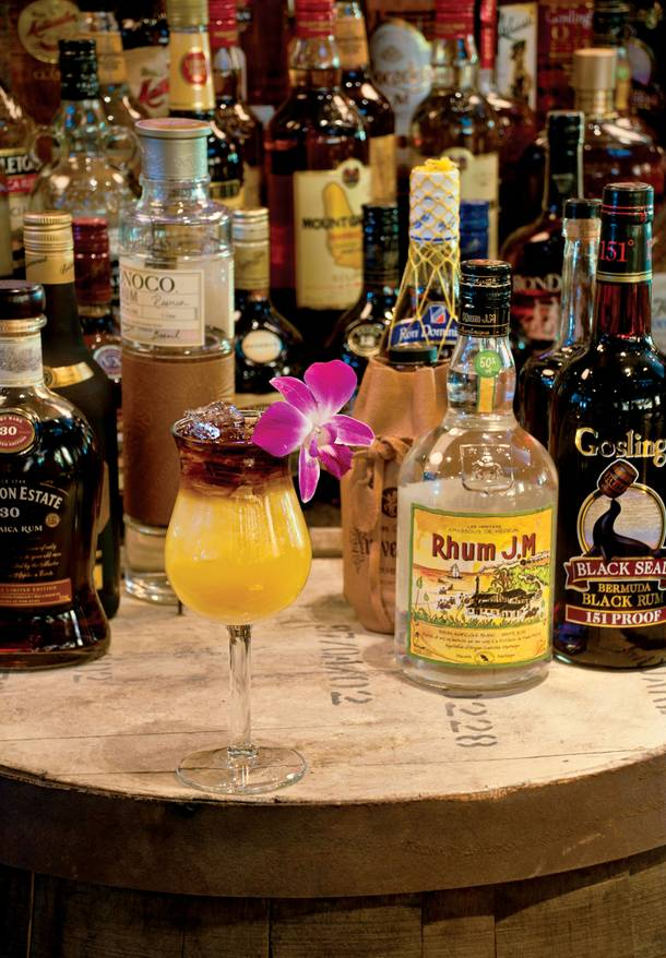 The Millionaire Mai Tai - garnish with your favorite wildflower for some extra cocktail flair.
