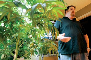 Homegrown: Chris Egan cultivates his own medical marijuana and teaches others to do the same.